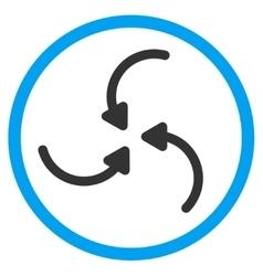 Vortex arrows rounded icon vector