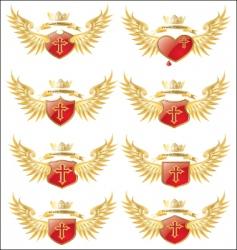 wings cross vector image