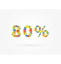 Discount 80 percent vector