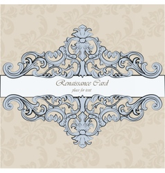 Invitation card with royal ornaments vector