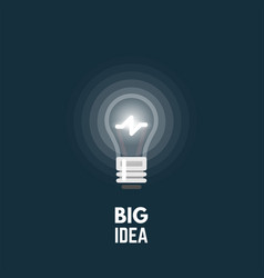 Light bulb big idea vector
