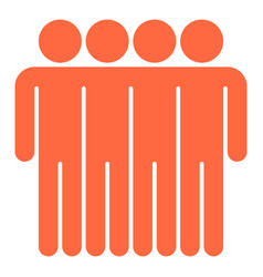 Four man sign people icon vector