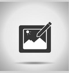 photo edition icon vector image