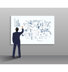 Businessman drawing vector