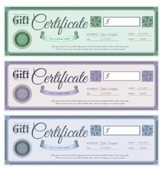 Gift certificates set vector
