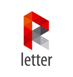 Abstract logo letter r modules vector