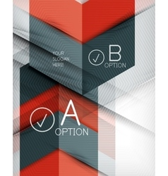 Geometric shapes with option elements Infographic vector image