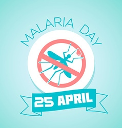 25 april malaria day vector