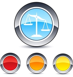 Balance round button vector