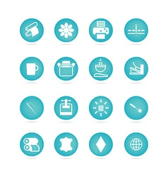 Icons types of printing printing icon vector