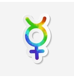 Gender identity icon non-binary intersex symbol vector