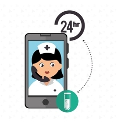 Nurse 24-hour health lab isolated icon design vector