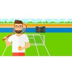 Big tennis player vector image vector image