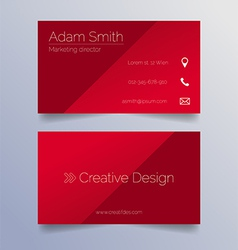 Business card template - sleek red design vector