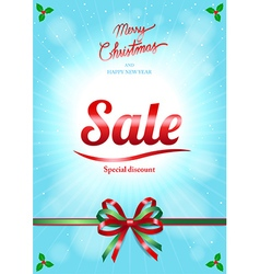 Chrismas and happy new year sale poster vector