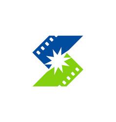 Cinema letter s logo vector