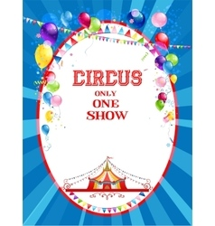 Circus bright poster vector