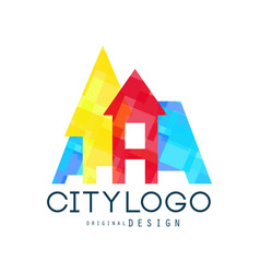 city logo original design modern city building vector image vector image