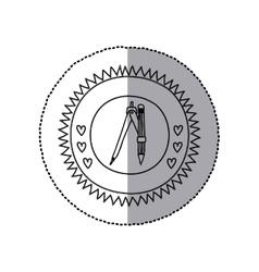 Compass school utensil vector