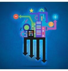 Creative abstract modern creative info vector