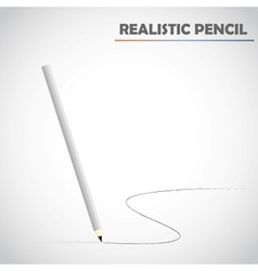 Detailed realistic pencil vector
