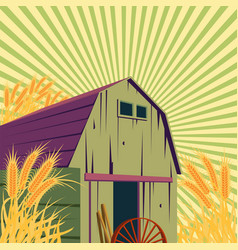 Farm rural scene vector