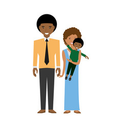 Happy afroamerican family love members vector