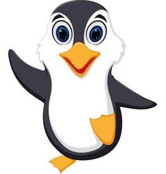 happy penguin cartoon vector image vector image