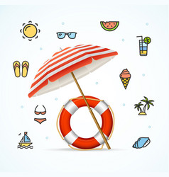 Hello summer concept vacation on beach vector