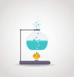 Lab chemistry tube vector
