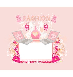 Online shopping abstract frame vector image vector image