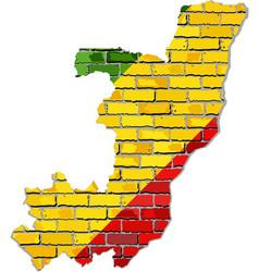 Republic of the congo map on a brick wall vector