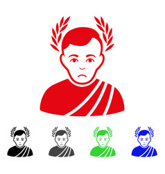 Sad caesar wreath icon vector