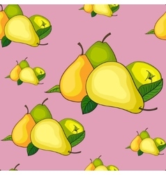 Seamless pattern pear vector image