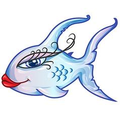 Sensual fish cartoon vector