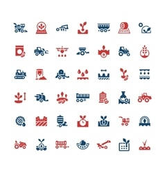Set color icons of agriculture vector image vector image