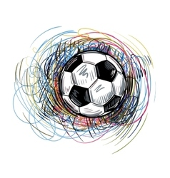 soccer color ball vector image vector image