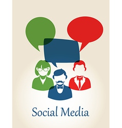 Social media people concept vector image