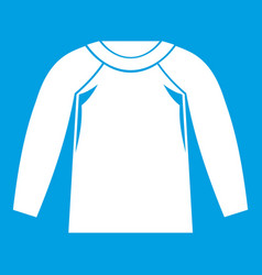 sports jacket icon white vector image vector image