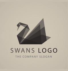 swan logo sign emblem-20 vector image