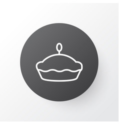 Tart icon symbol premium quality isolated flan vector