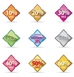 Thal Glossy Button Icon sample special promotion vector image vector image