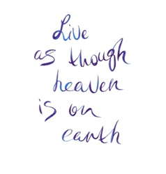 Watercolor lettering live as though heaven is on vector