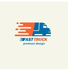 Fast Truck The template for logos icons of vector image