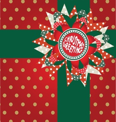 christmas greeting post card vector image