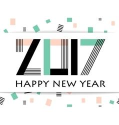 Geometric 2017 happy new year greeting card vector