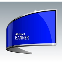 Shiny gloss blue banner eps 10 vector