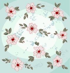 Almond blossoms vector