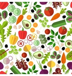 Salad ingredients seamless pattern vector