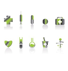 medical and healt care icons vector image